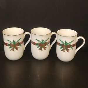 3 Xmas The Hunt Georges Briard Coffee Tea Mugs